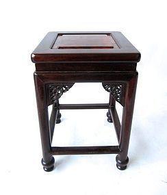 Antique Chinese Hardwood with Burl Stool