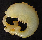 Antique Chinese Yellow Jade Fish