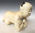 Antique Chinese Porcelain Boy Pillow