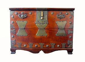 Antique Korean Elmwood Bandaji Chest