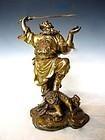 Antique Chinese Statue of Demon Queller Zhong Kui