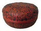 Antique Japanese Red Lacquer Container
