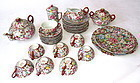 Antique Chinese 33-Piece Porcelain Tea Set
