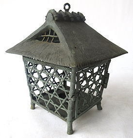 Antique Japanese Bronze Lantern
