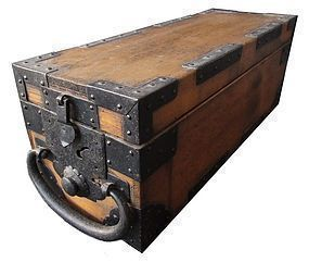 Rare Antique Japanese Safe Box