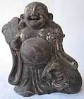 Pleasant and Charming Large Antique Japanese Hotei