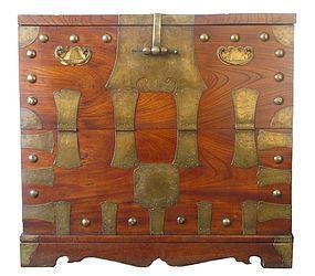 Antique Korean Heavy Bandaji Chest