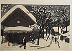 Japanese Woodblock Print by Saito