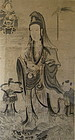 Antique Chinese Large Framed Scroll of Quan Yin