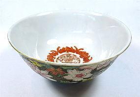 Antique Chinese Porcelain Mille Fleur Bowl
