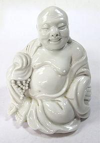 Antique Chinese Blanc De Chine Budai