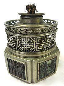 Antique Chinese Opium Lamp