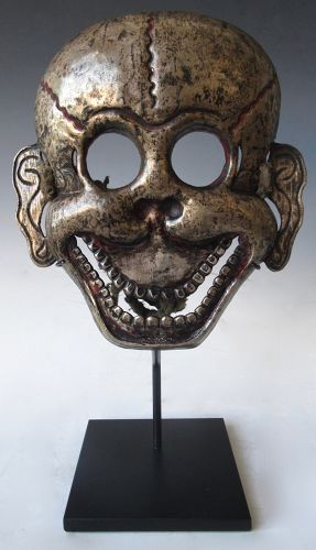Tibetan Citipati Silver Mask
