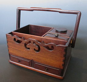Japanese Antique Hardwood Tobacco Box
