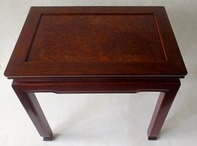 Antique Chinese Rosewood and Burl Table