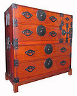 Antique Japanese Two-Section Tansu w/ Stand