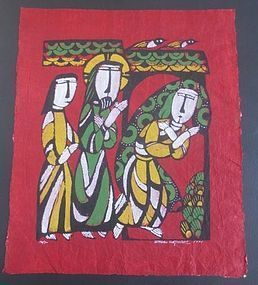 Japanese Sadao Watanabe Print of the Three Saints