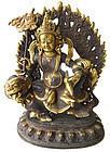 Tibetan Gilt Bronze Statue of Kubera on Beast