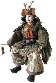 Japanese Musha Ningyo (Warrior Doll) of Minamoto Yoshitsune