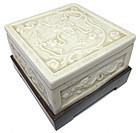 Antique Chinese Porcelain Inkwell w/ Stand