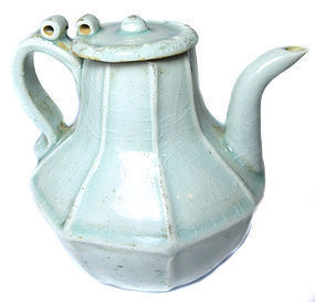 Antique Chinese Celadon Ware Tea Pot