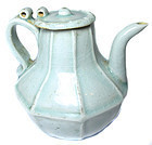 Antique Chinese Celadon Ware Tea Pot