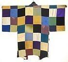 Antique Japanese Silk Patchwork Over Kimono