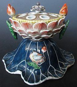 Chinese Porcelain Lotus Pod Censer