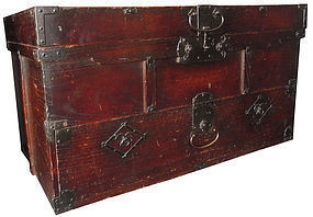 Edo Age Unusual Japanese Keyaki Trunk