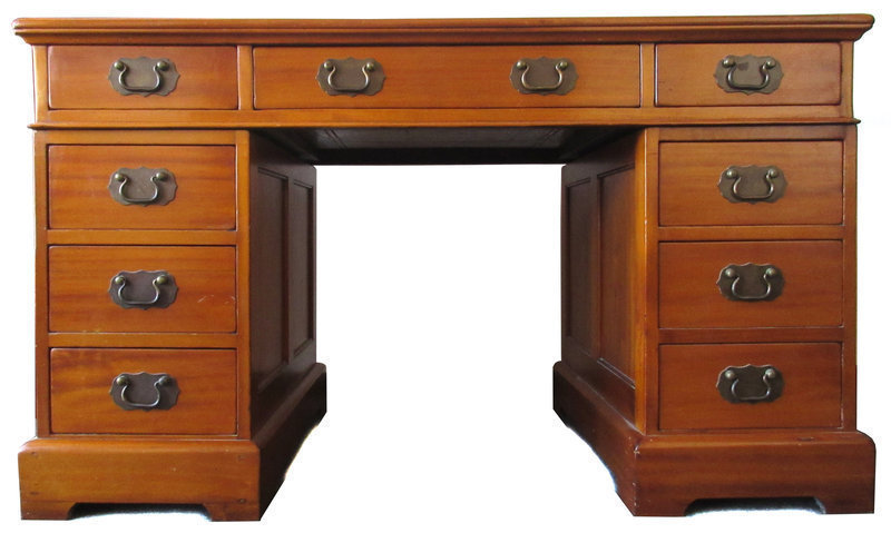 Chinese Three Piece Hardwood Desk