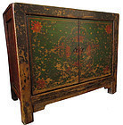 17th Century Tibetan Painted Cabinet