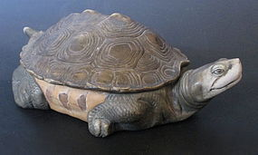 Unusual Charming Chinese Porcelain Turtle Box