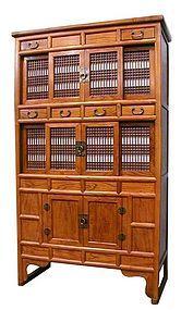 Korean Kitchen Cabinet with sliding doors