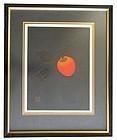 Japanese Framed Persimmon Print by Haku Maki
