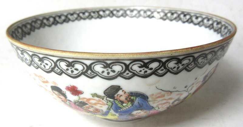 Antique Chinese Eggshell Porcelain Bowl