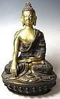 Antique Himalayan gilt Bronze Buddha