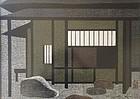 Japanese Framed Woodblock Print by Saito