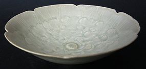 Antique Chinese Song Dynasty Scalloped Bowl