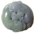 Antique Chinese Purple and Green Jadeite Carving