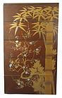 Antique Japanese Gilt Lacquer Jubako w/ Tomobako