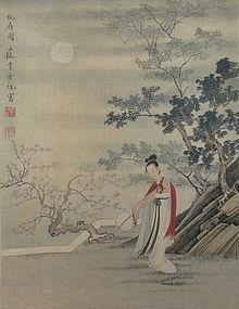 Antique Chinese Scroll signed Fei Dan Xu