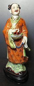 Chinese Porcelain Statue of Lan Caihe