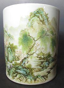 Chinese Famille Rose Porcelain Brush