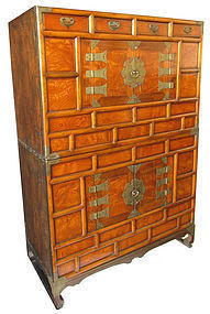 Antique Korean Two Section Chest with Stand