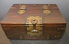 Antique Korean Wood Comb Box