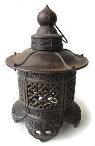 Japanese Antique Iron Lantern