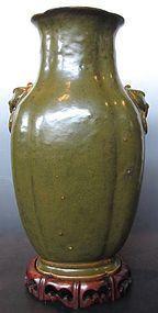 18th Century Chinese Ceramic Teadust Vase