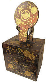 Antique Japanese Lacquer Vanity Box