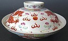Chinese Lidded Porcelain Bowl w/ Dragons
