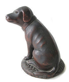 Japanese Antique Bizen Ware Dog
